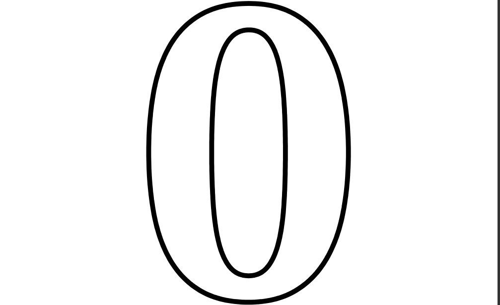 I See A Number Zero Coloring Page Twisty Noodle Numbers