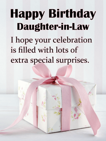A Beautifully Wrapped Gift Happy Birthday Card For Daughter In Law Birthday Greeting Cards By Davia Happy Birthday Daughter Birthday Daughter In Law Birthday Greeting Cards