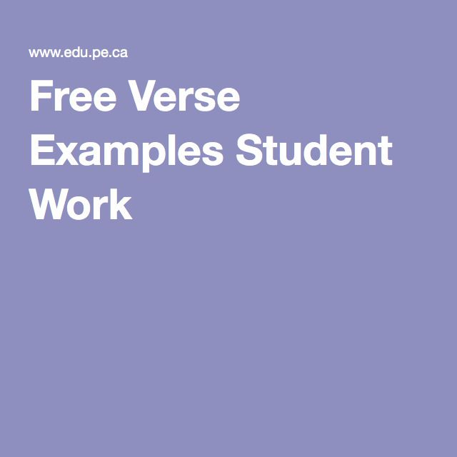 Poetry Examples Acrostic Free Verse Cinquain 4th Grade Poetry