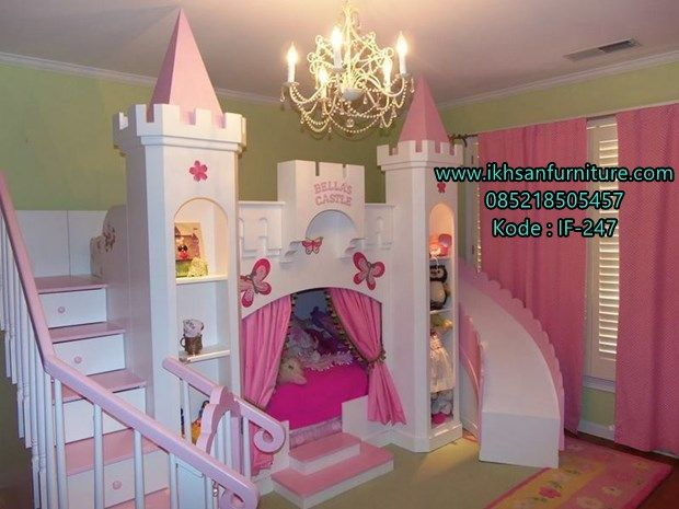 Konsep Tempat Tidur Anak Kastil Princess Mewah Merupakan Yang Banyak Dii