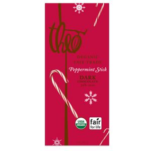 Theo's dark chocolate peppermint stick is FANTASTIC!