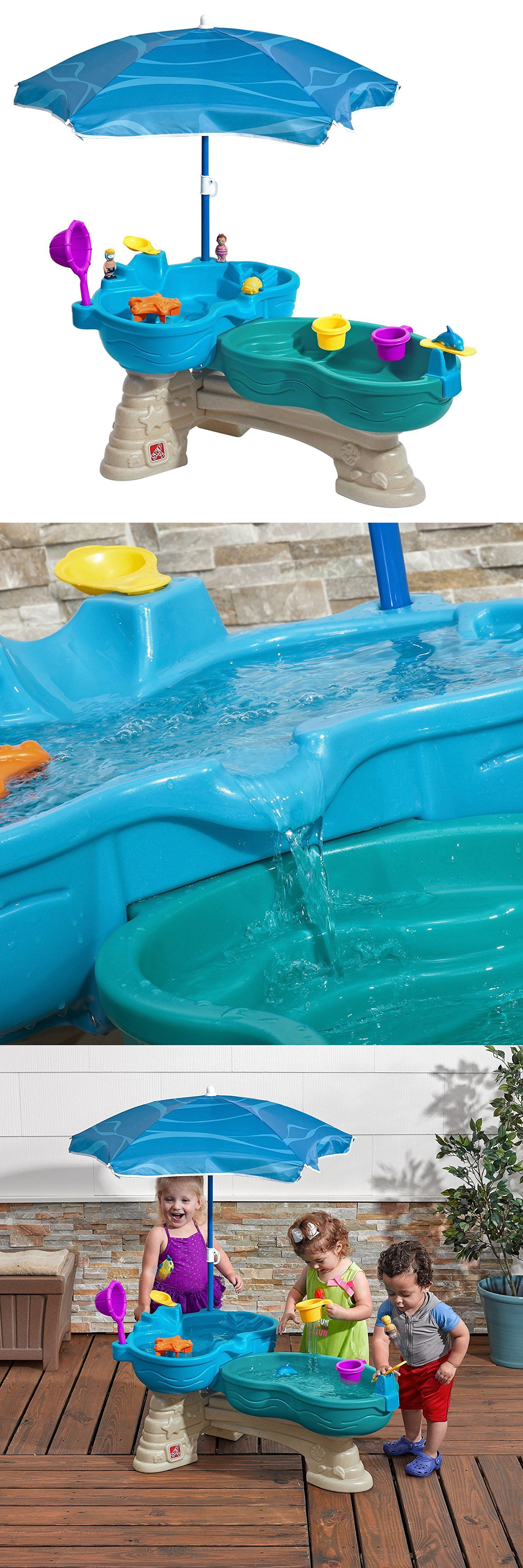 Step 2 Water Table For Kids Toddlers With Umbrella Toys