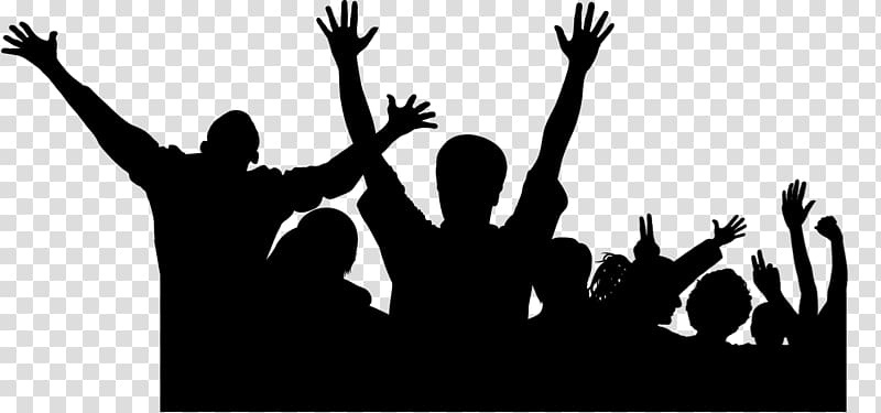 People Celebrating Happiness Person Crowd Drawing Shadow Person Cartoon Silhouette
