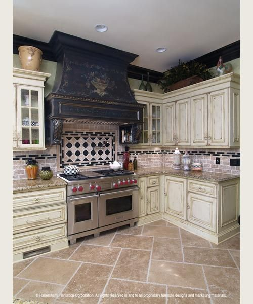 Kitchen Art The Range: Black, Distressed, With Highlighted Details And Faded