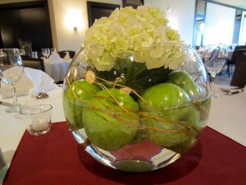 Five clear glass fish bowl style vases for sale we