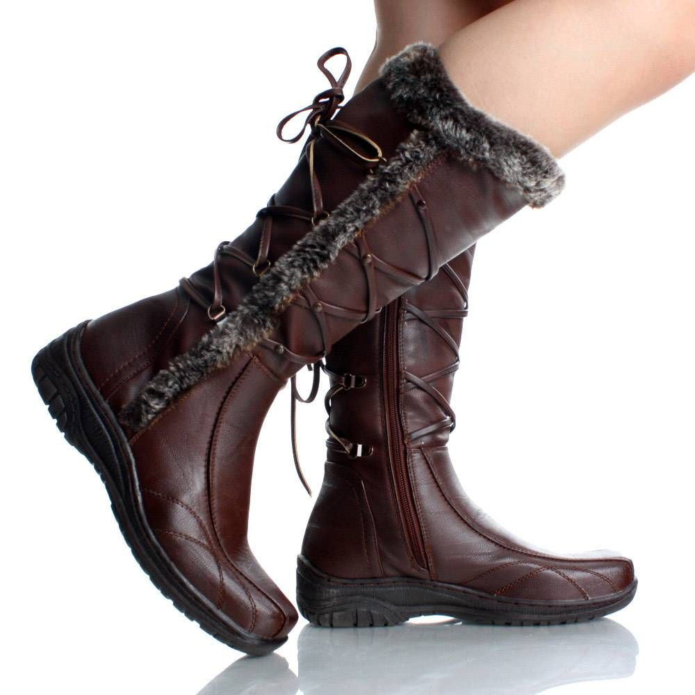 Womens Leather Winter Boots - Cr Boot