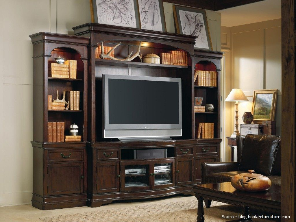 A Dark Wood Entertainment Center With Extra Storage Pairs Well Neutral Walls Rug Flooring Ad Mocha Furnishings