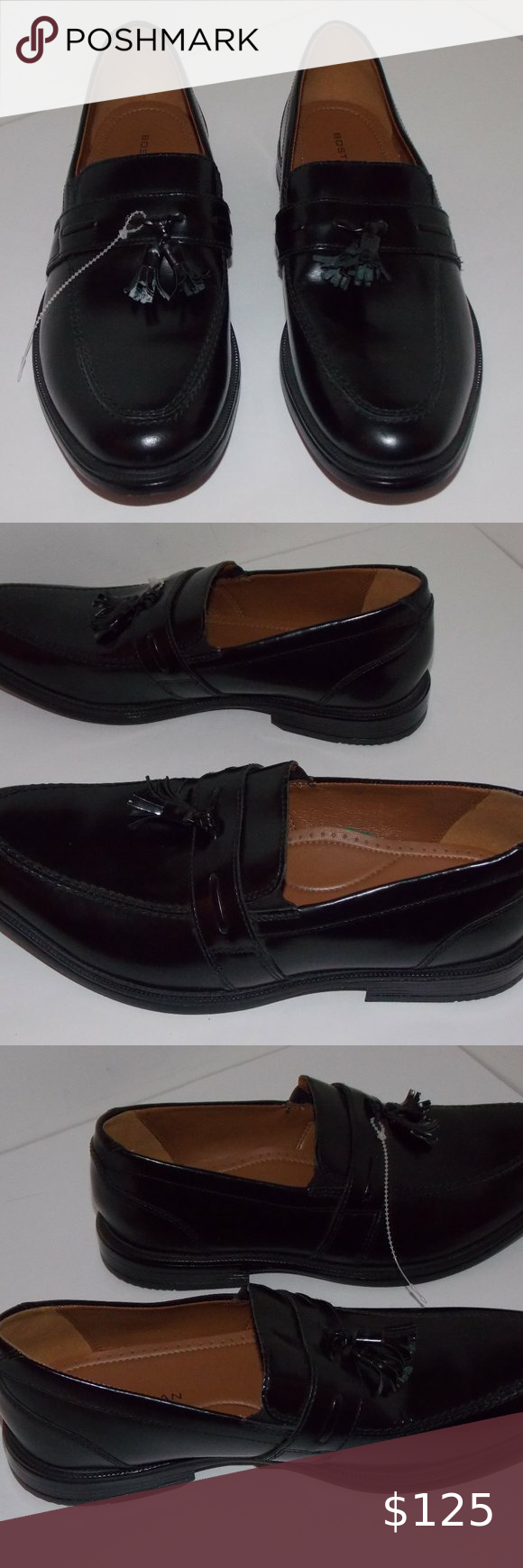 Bostonian Men S Black Leather Loafers Size 9 5m Mens Black Leather Loafers Mens Black Leather Black Leather Loafers [ 1740 x 580 Pixel ]