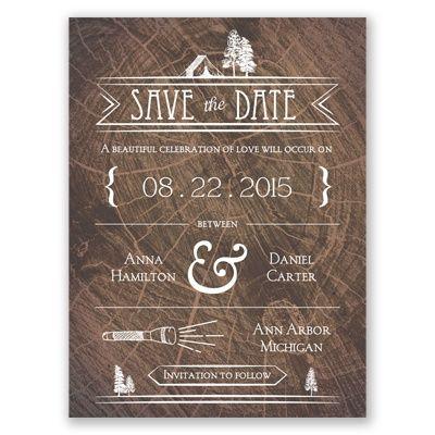Making Camp Save The Date Card Invitaciones Casamiento Invitaciones Casamiento