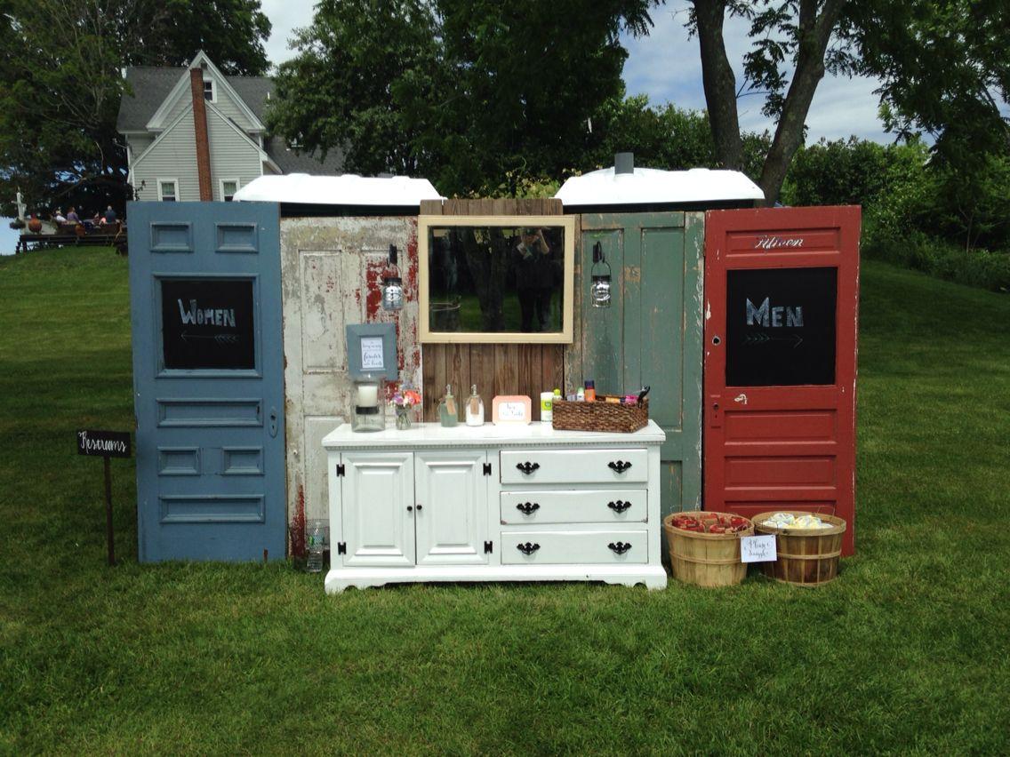 Hide Your Porta Potties Porta Potty Wedding Wedding Bathroom Outdoor Wedding