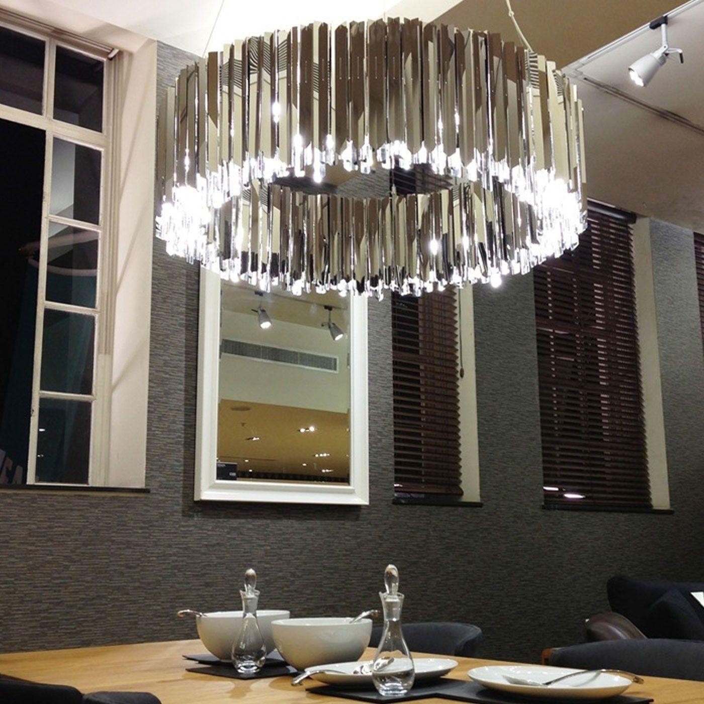Facet chandelier stainless steel lighting pinterest stainless facet chandelier stainless steel mozeypictures Gallery