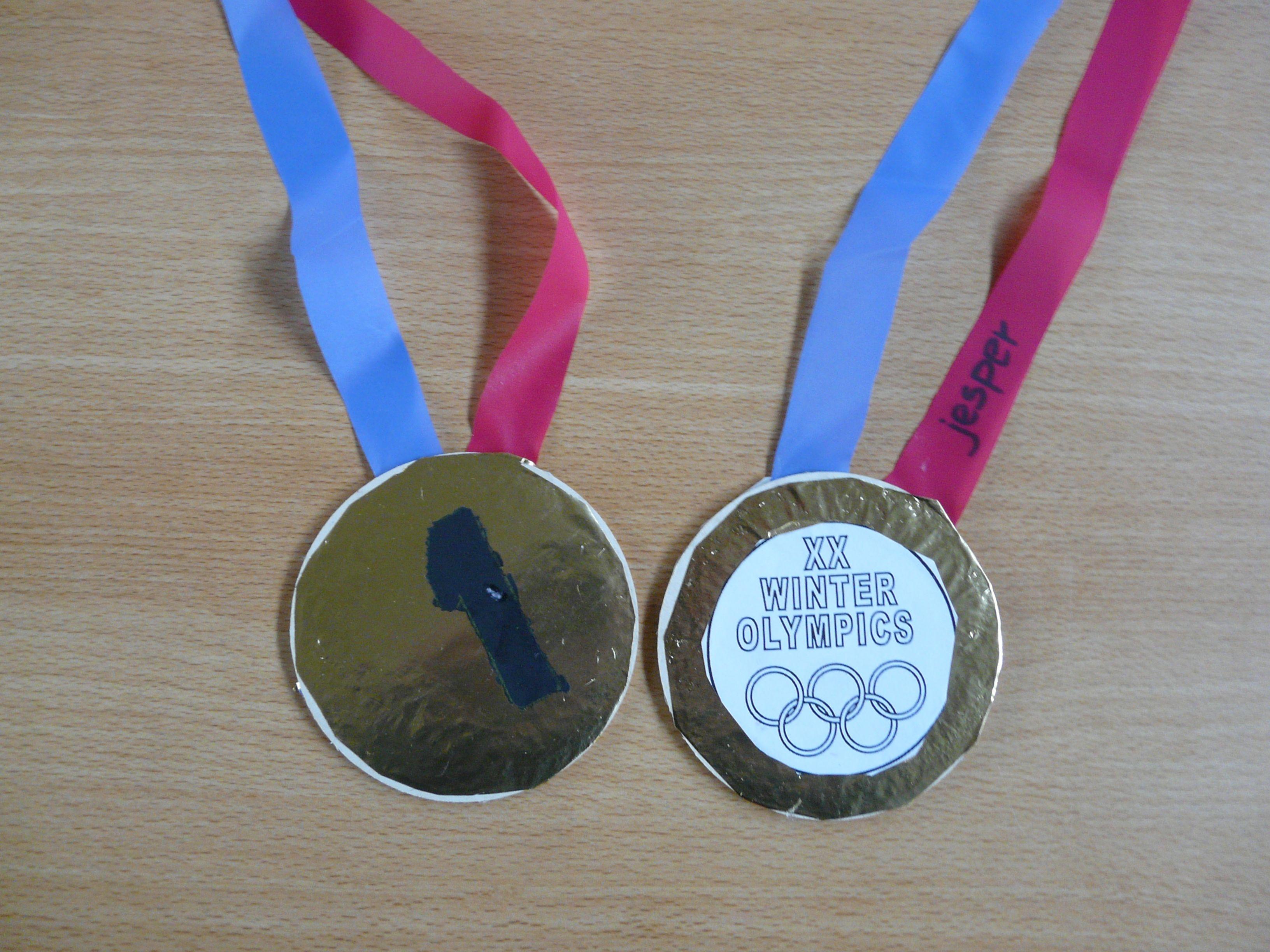 Medaille Olympische Winterspelen Winterspelen Knutselen