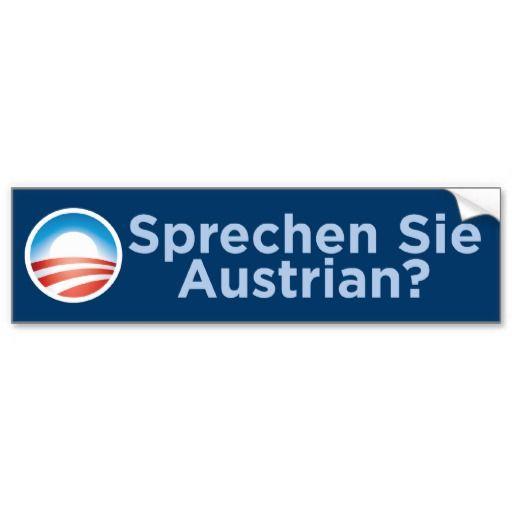 Obama sprechen sie austrian bumper sticker