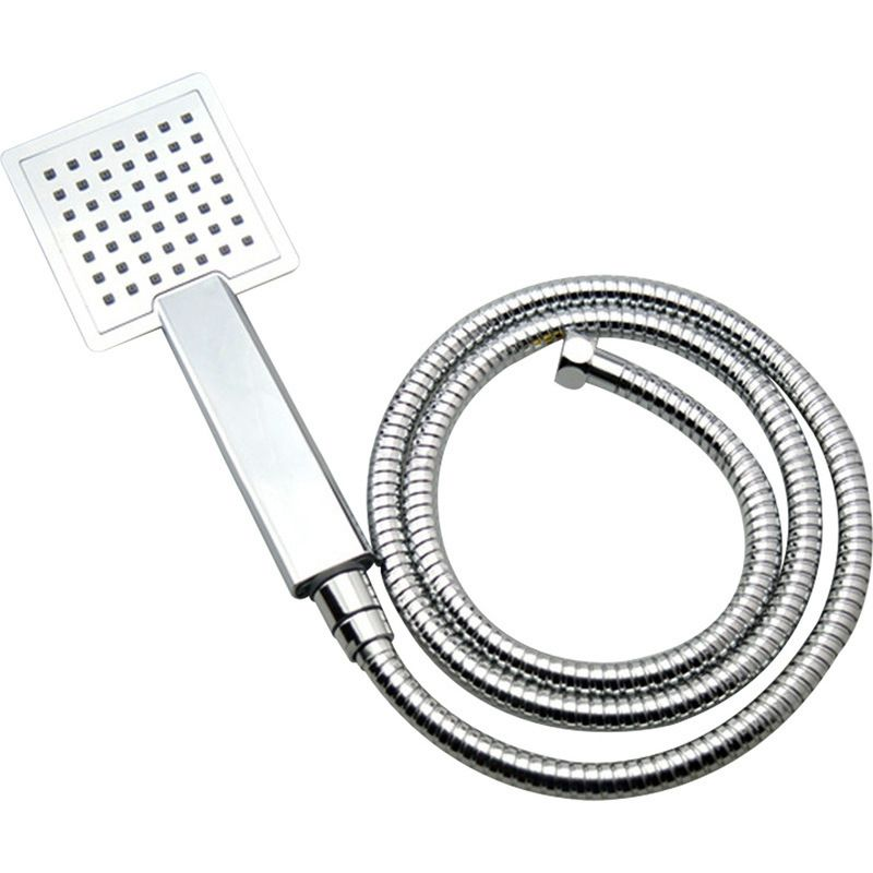 Hand Held Square Shower Head W Hose In Chrome 1 5m Shower Heads Hand Held Shower Abs Material