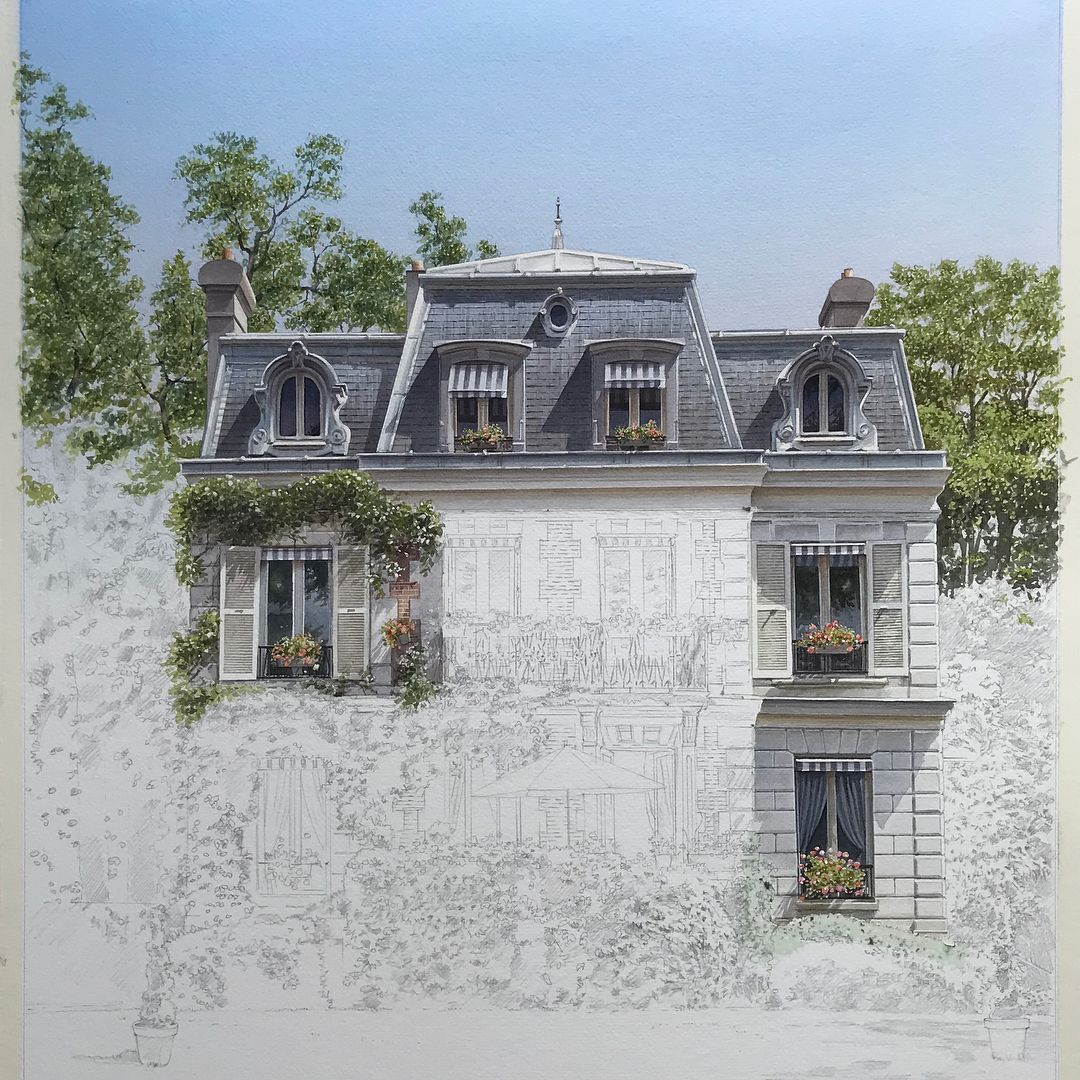 Thierry Duval Shows Several More Progression Paintings Of This