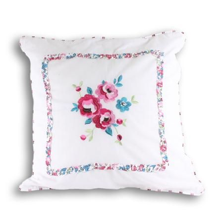 Paoletti Appleby 45x45cm Cushion, Kingfisher & Pink