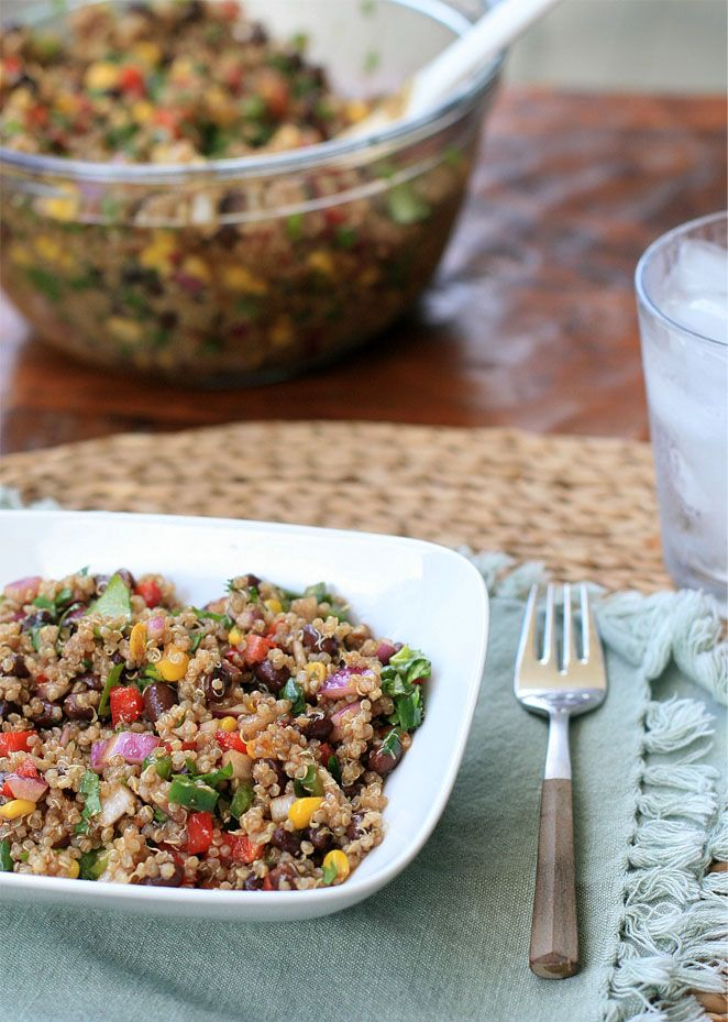 Colorful Quinoa Black Bean And Corn Salad Girl Cooks World This