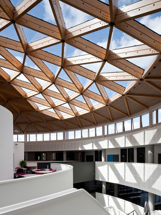 A Conjoined Complex Innovative Architecture Roof Design Wooden Architecture