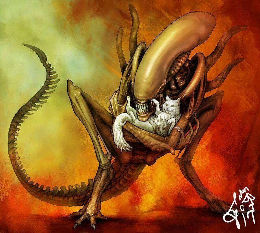 Alien Movie: Xenomorph... With Cats...