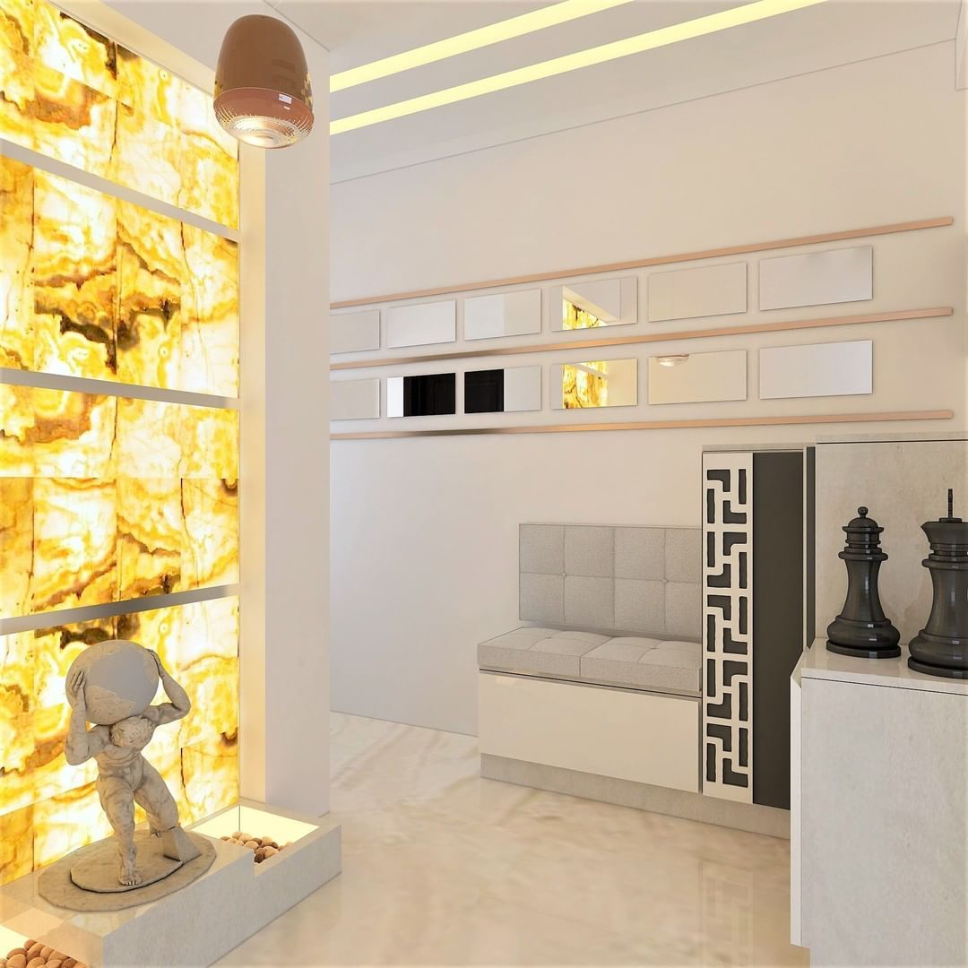 Image May Contain Indoor Alabaster Sheet White Walls Indian
