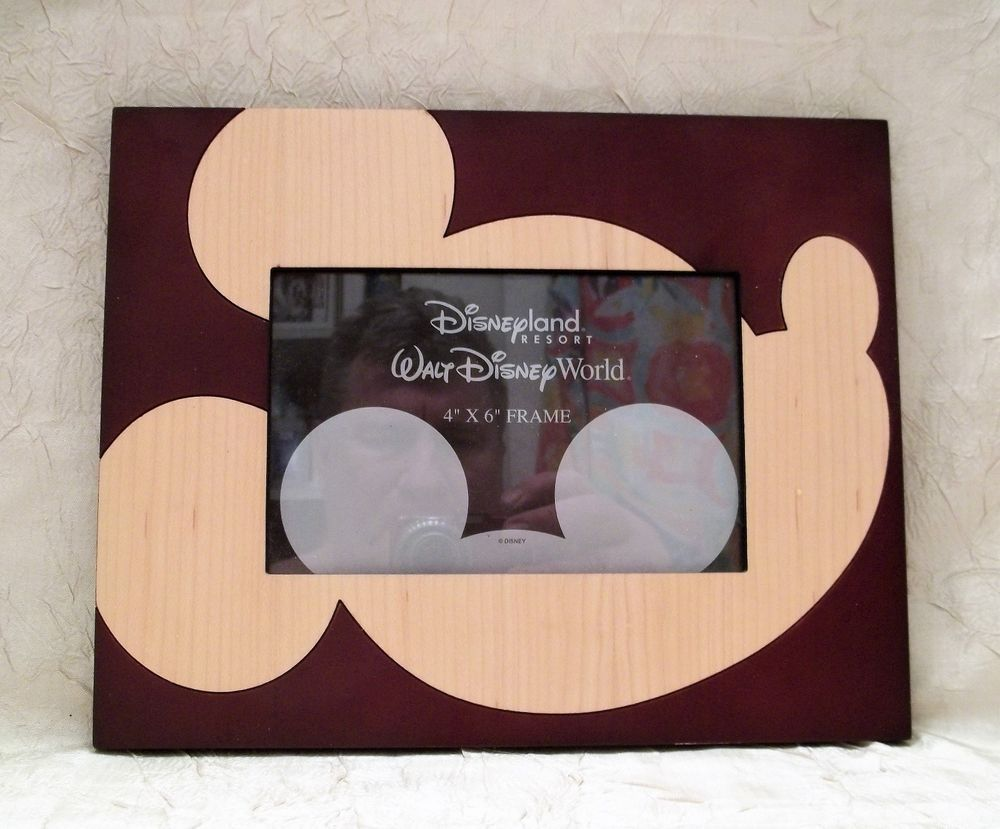 Walt Disney World Wooden Photo Frame Holds One 4 x 6 Picture Park ...