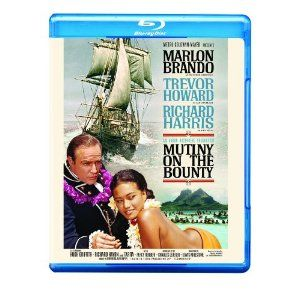Mutiny on the Bounty, second edition, filmed in 1962, starring Marlon Brando and Trevor Howard, re-released on Blu-ray.