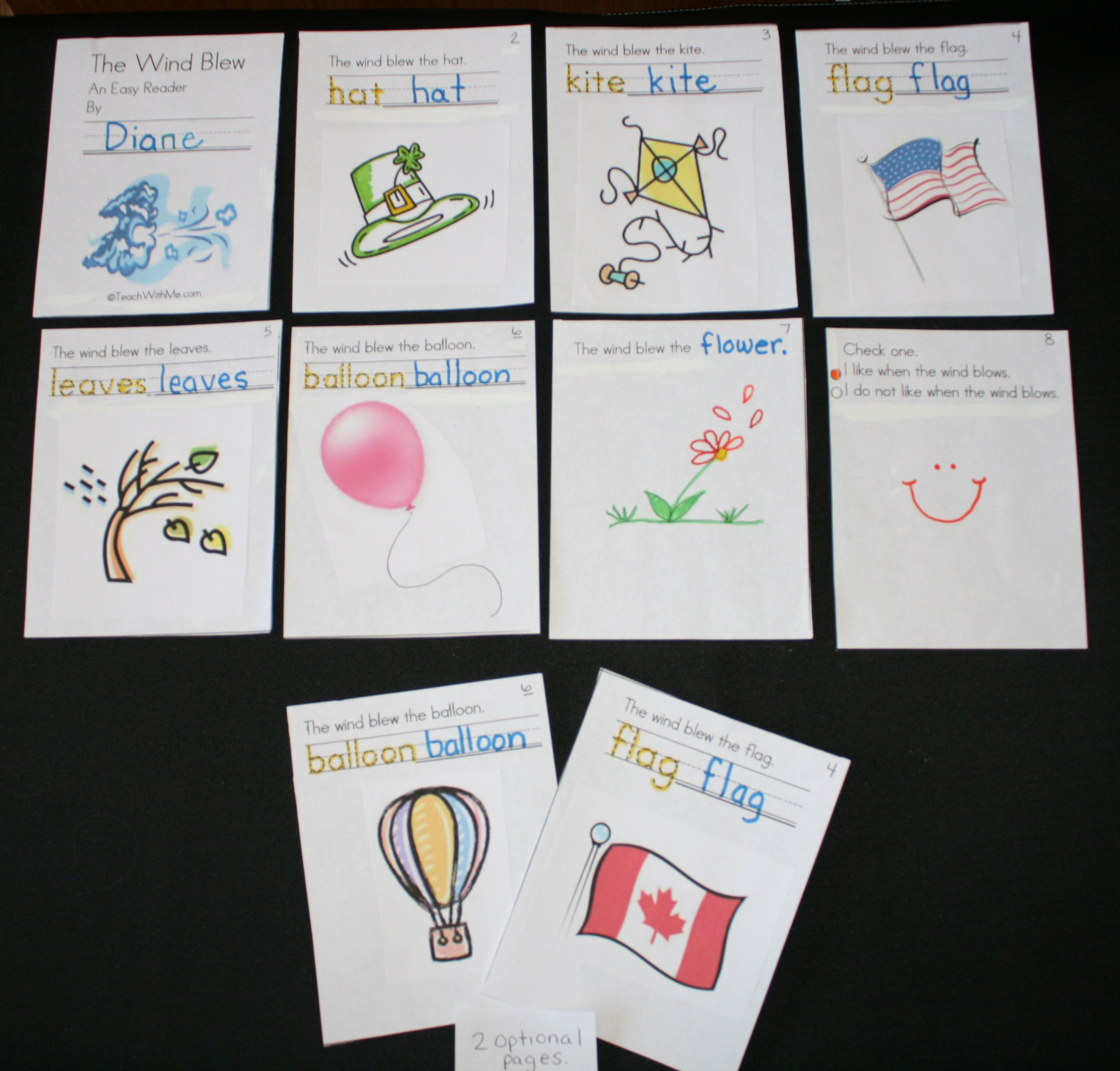 The Wind Blew Is An Easy Reader Where Students Trace