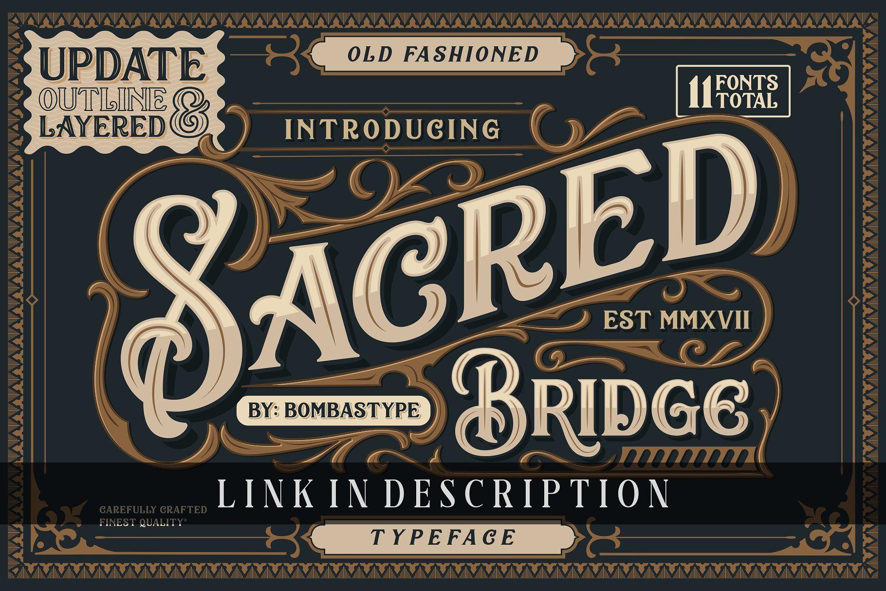 Barakah Layered Typeface + Extras Typeface, Victorian
