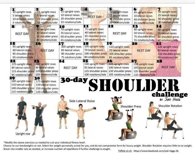 Shoulders 30 Day Workout Challenge 30 Day Fitness Workout Challenge