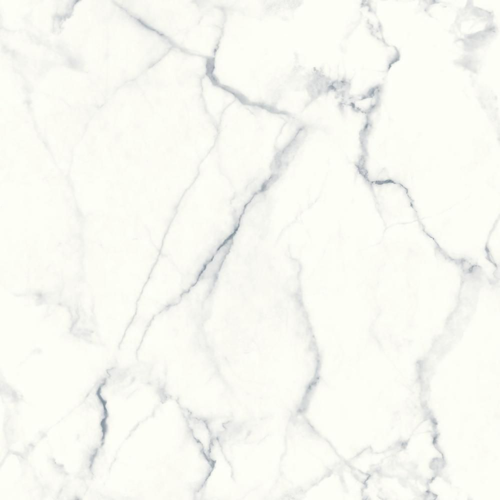RoomMates Carrara Marble Vinyl Peelable Wallpaper (Covers 28.18 sq. ft.) RMK10839WP - The Home Depot