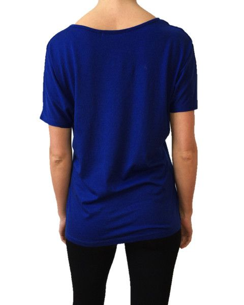 The new ANISA Slouchy Tee in Deep Blue - rear view, wahey