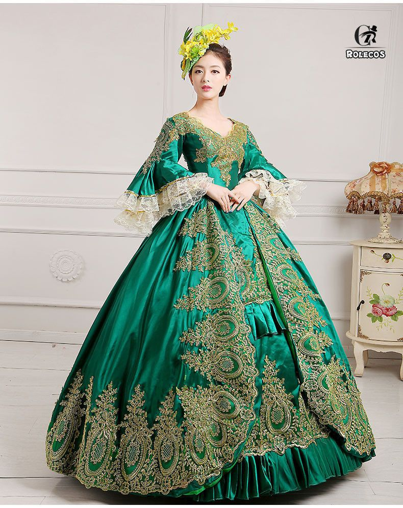 Vintage Victorian Party Dress Princess Ball Gown Masquerade Costume ...