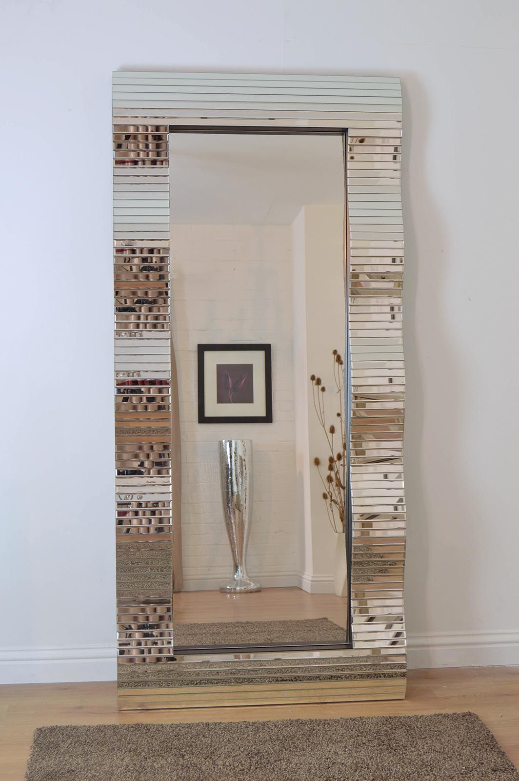 Mirroroutlet are delighted to offer for sale this stunning full length  solid mirror glass wall mirror. Large Shabby Chic Ornate Full Length Silver Wall Mirror 5Ft4 X