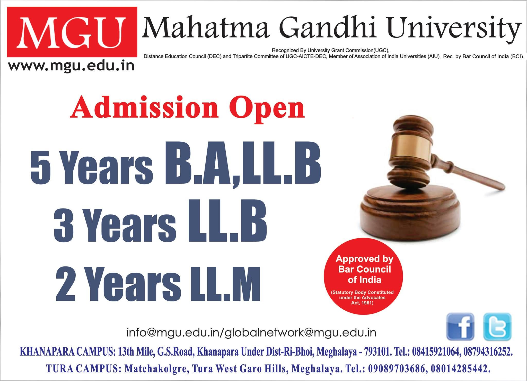 Admission Open For B A Llb Llb Llm Courses Enroll Today For