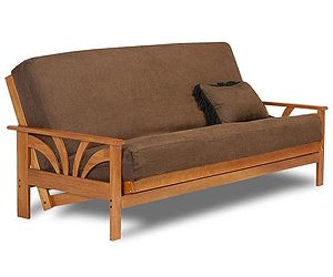 The Chicago Convertible Futon Frame Is An Ingenious Combination Of Transitional Sleigh Arm Styling With A