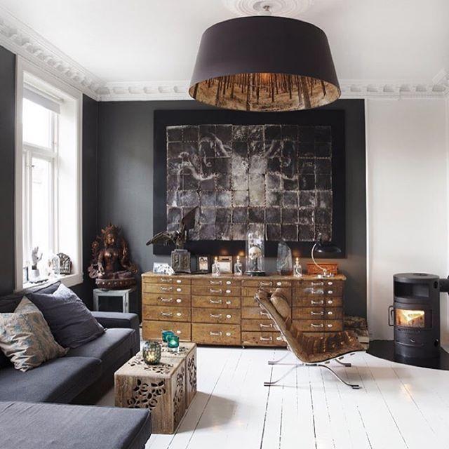 Kunstneren @christianhouge og hans vakre stue blir j aldri lei. Har ...