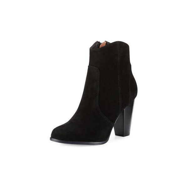 91bdfda285ad Joie Dalton Suede Western Bootie ( 130) ❤ liked on Polyvore featuring  shoes
