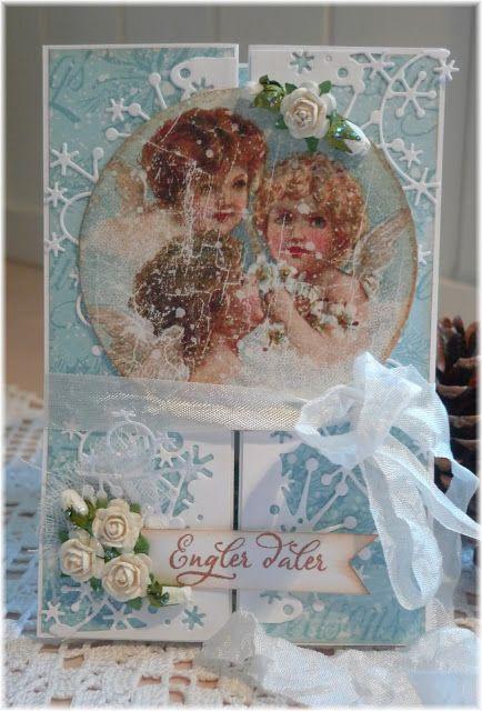 Synnøves Papirverksted: Engler og snøkrystaller, Christmas card