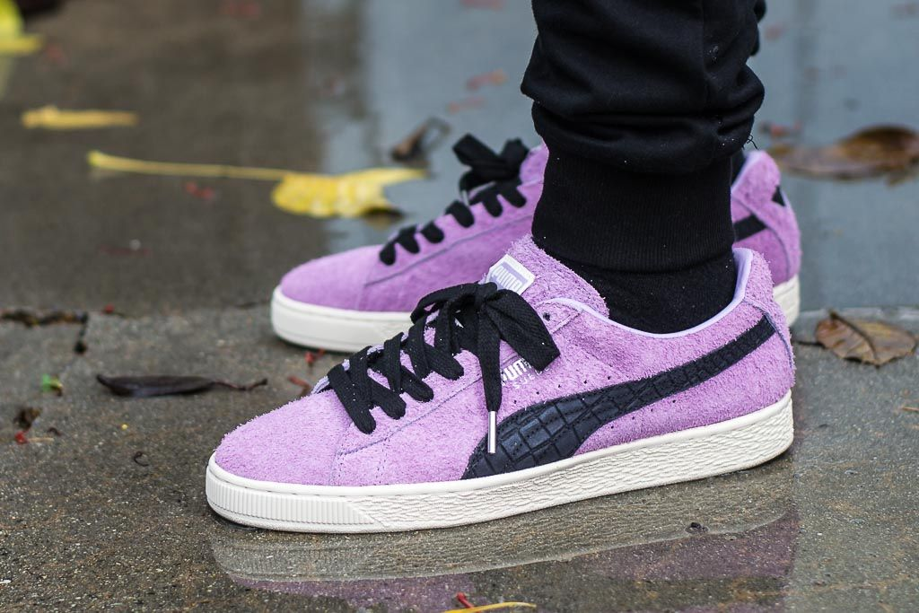 46a10b109693 Diamond Supply Co x Puma Suede Orchid Bloom Sneaker Review ...