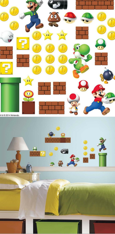 Super Mario Wandtattoo für das Kinderzimmer | Super Mario ...