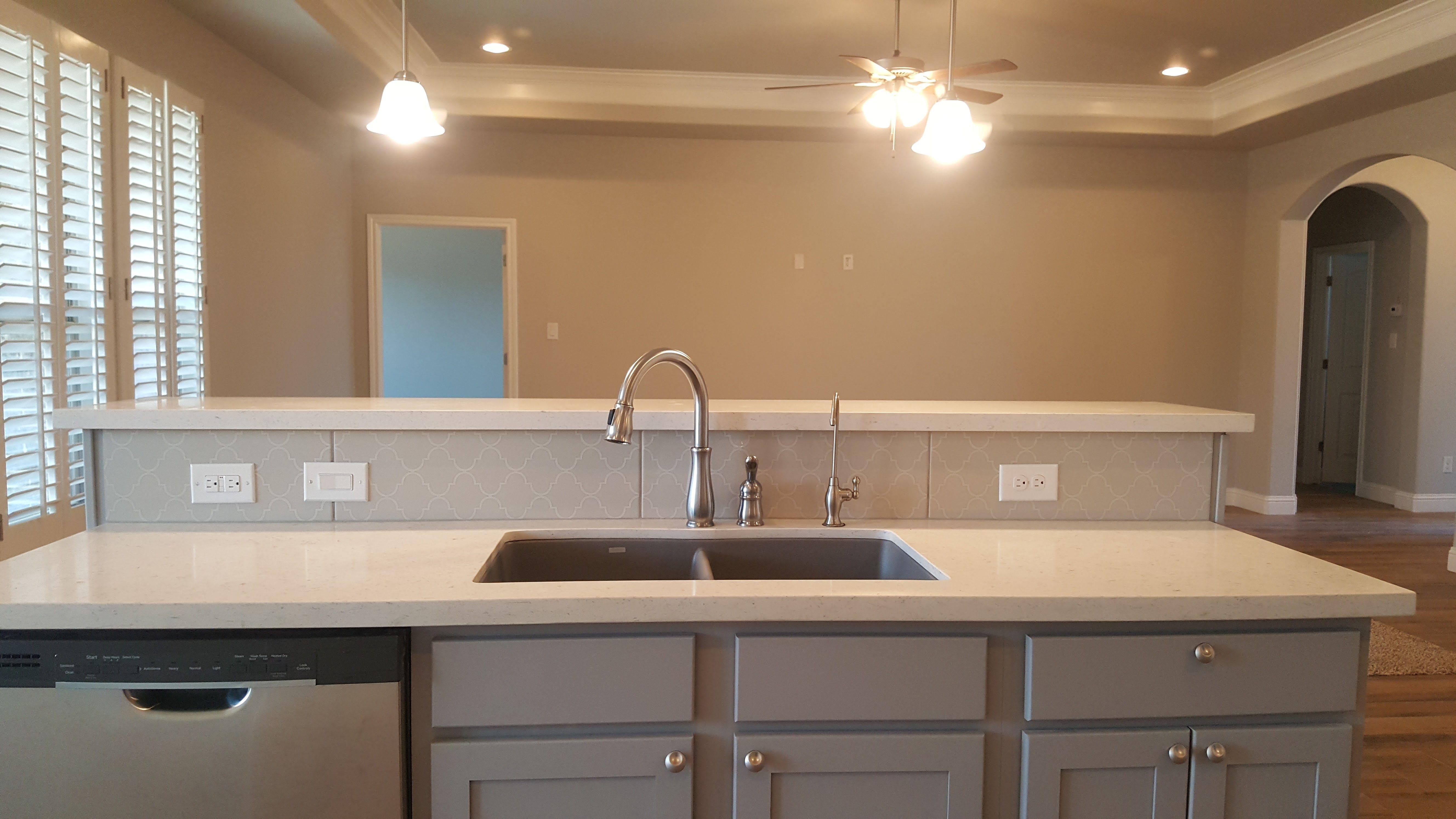 """Kitchen Cabinets Painted """"ash"""" Misty Moon Quartz Countertops Interesting Ash Kitchen Cabinets Decorating Design"""