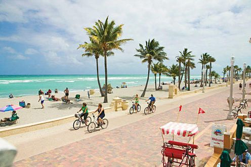 Fl Hollywood Oceanfront Broadwalk There Is Metered Parking At North Beach Park The