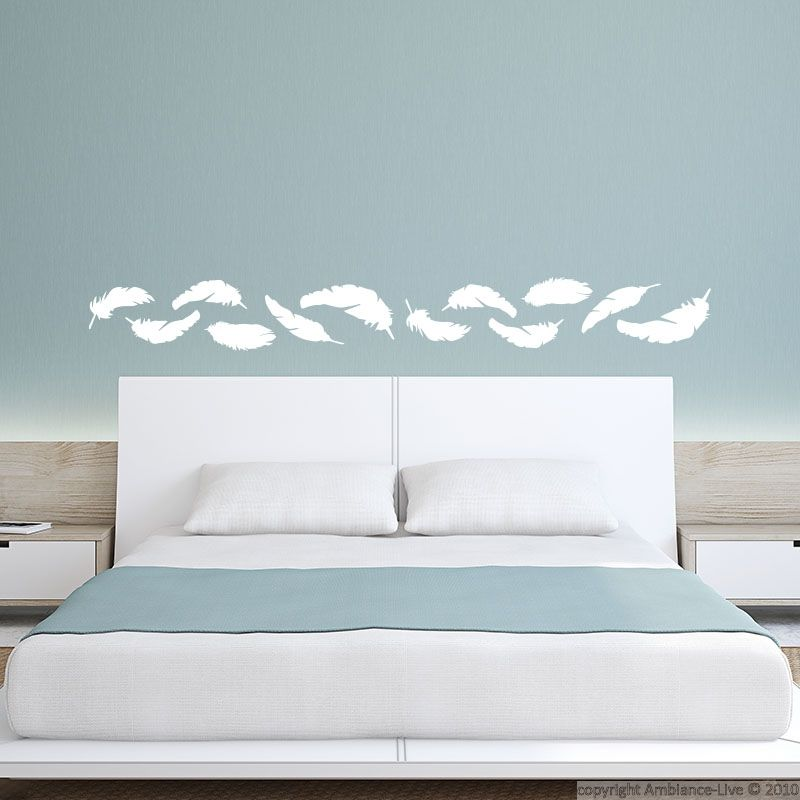 Sticker plumes stickers muraux stickers et plumes - Sticker chambre adulte ...
