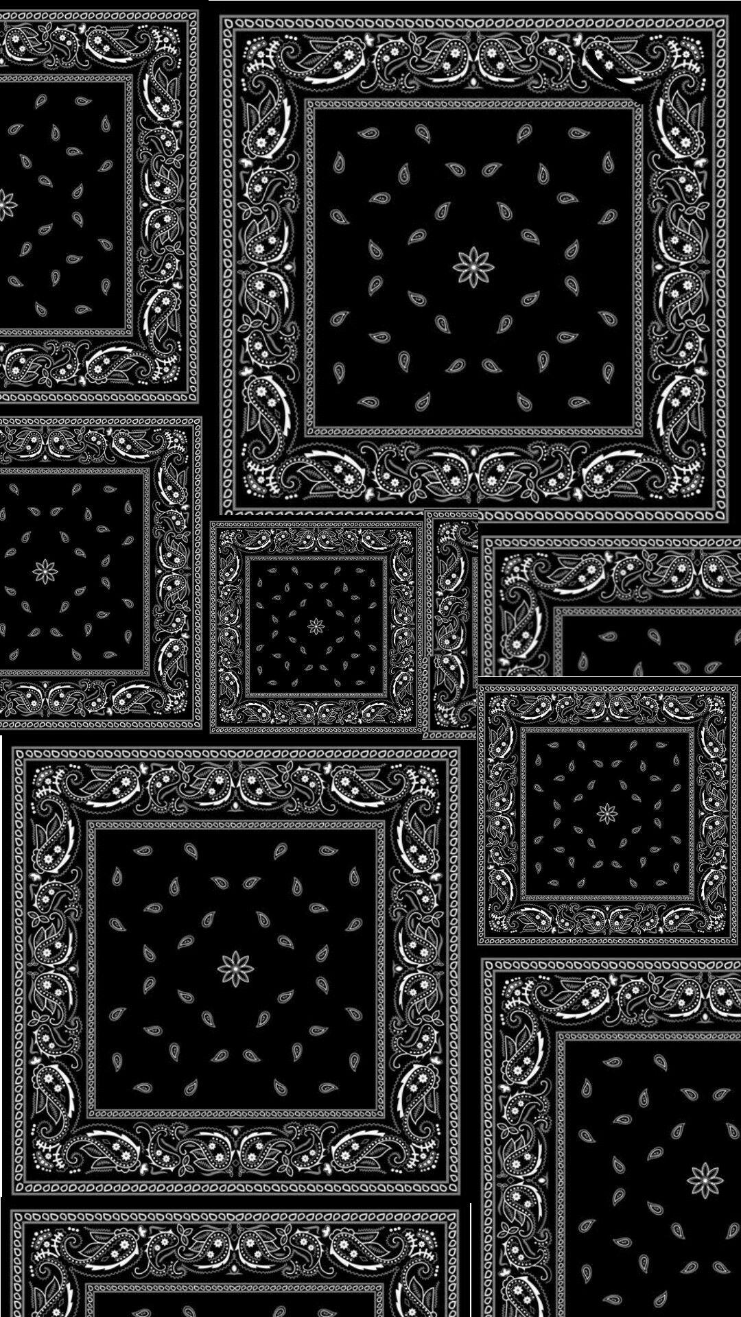 Black Bandana Wallpaper Black Wallpaper Paisley Print Design Graphic Tshirt Design