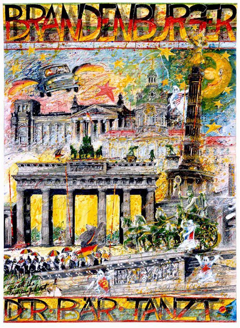 Brandenburger Der Bar Tanzt Von Klaus D Schiemann Kunstdruck Im Format 50 X 70 Cm Kunstdruck