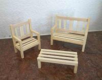 Table de Jardin | Miniatures pour maison de poupée, Meubles ...