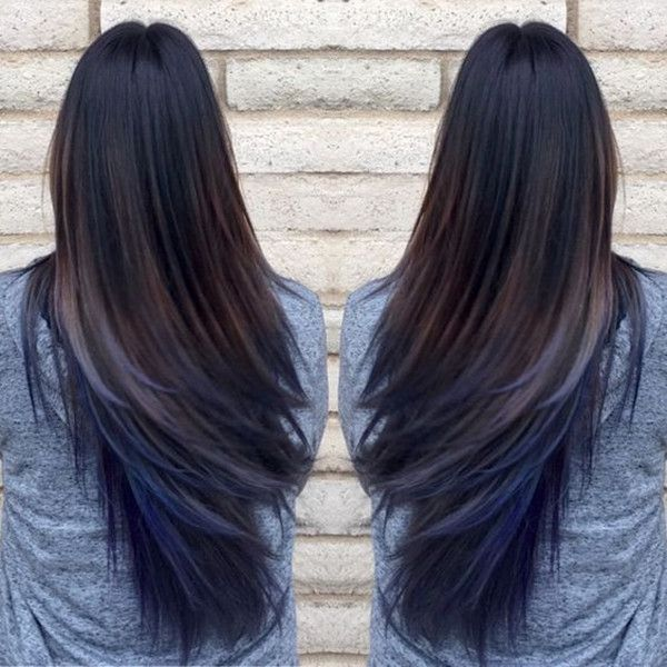Top 20 Hair Color Ideas For Brown Black Hair You Hair Styles Blue Ombre Hair Oil Slick Hair