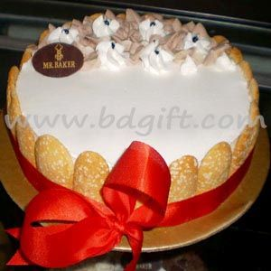 Half kg small cake and recommended for up to 4 people tasty