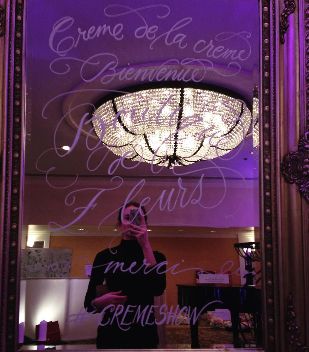 awesome vancouver wedding I sure wish to have a mirror like this in my house...  #cremeshow #calligraphy by @sash_ru  #vancouverwedding #vancouverweddingstationery #vancouverwedding