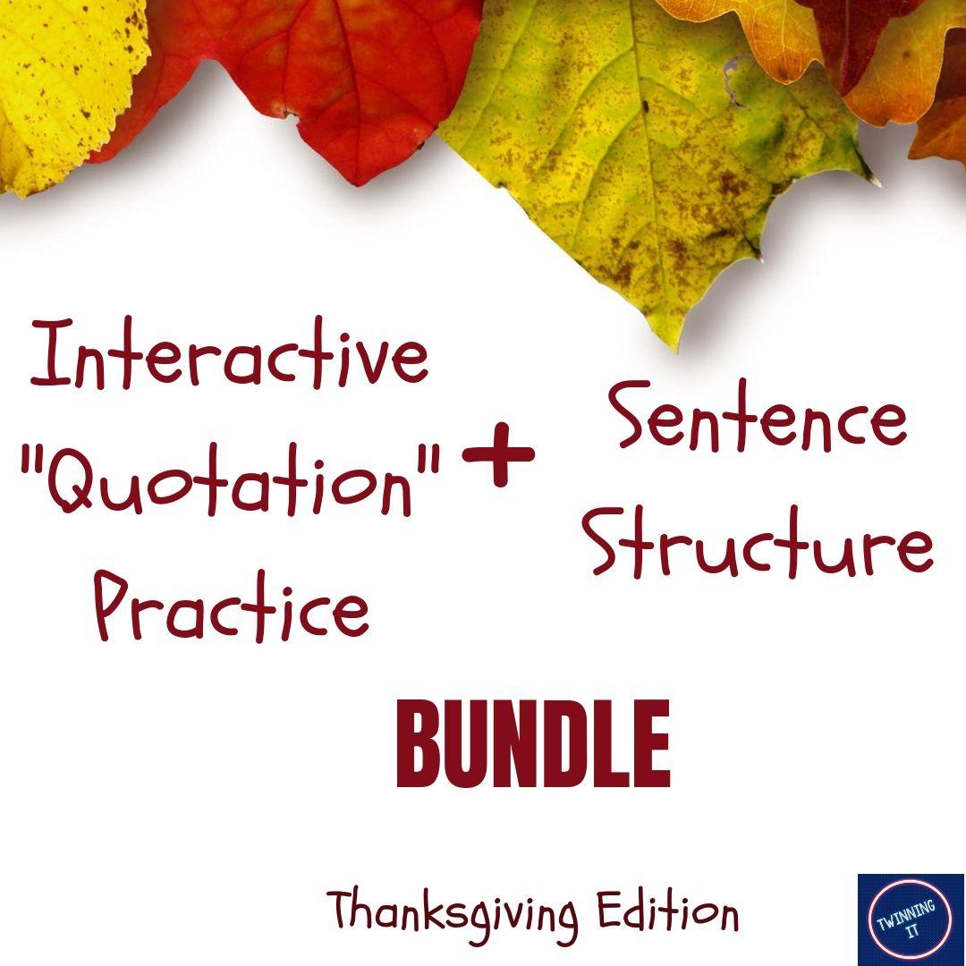 Thanksgiving Grammar Growing Bundle